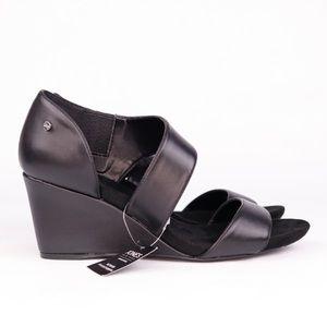 NEW Jones New York Brenda Black Slip On Wedges 10